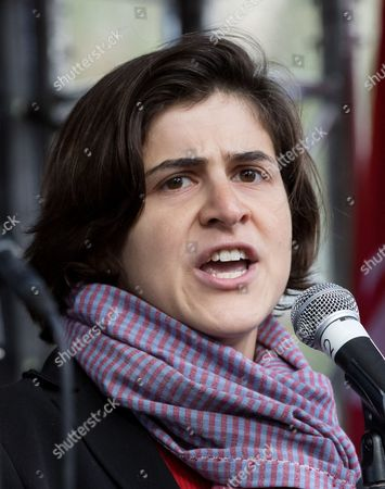 Stock Picture of Sarah Sackman from the Jewish Labour Movement speaking
