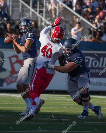 Tyler Stewart Nevada quarterback Tyler Stewart drops back to pass against Fresno State in the first quarter of an NCAA college football game in Reno, Nev., on