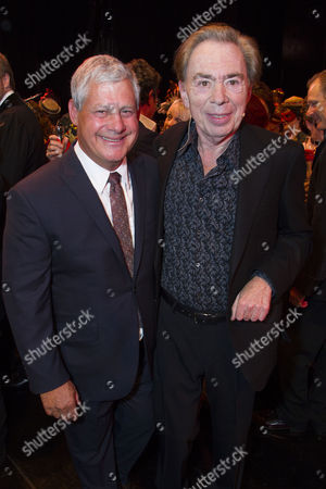 Stock Photo of Cameron Mackintosh (Producer) and Sir Andrew Lloyd Webber (Music) backstage