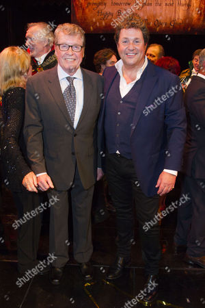 Michael Crawford and Michael Ball (Raoul) backstage