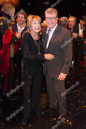 Gillian Lynne (Choreographer) and Michael Crawford backstage