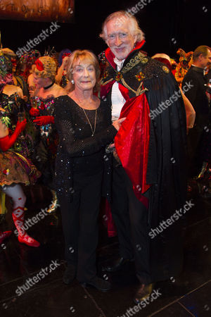 Gillian Lynne (Choreographer) and Peter Land (Andre) backstage
