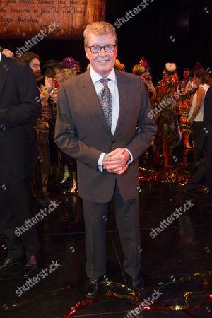 Michael Crawford backstage