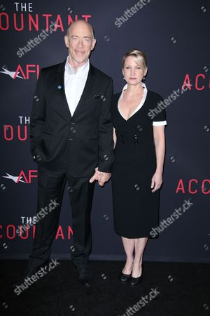 Stock Photo of JK Simmons and Michelle Schumacher