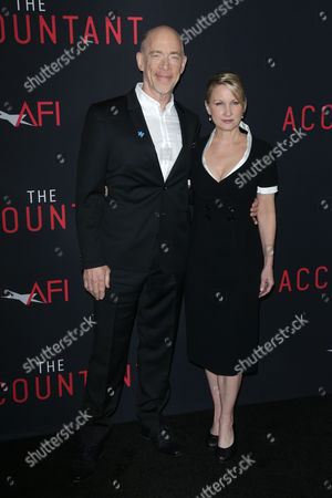 Stock Image of JK Simmons and Michelle Schumacher