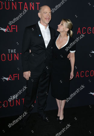 Stock Picture of JK Simmons and Michelle Schumacher