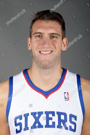Stock Photo of Spencer Hawes Philadelphia 76ers' Spencer Hawes poses for a photograph during media day at the team's practice facility, in Philadelphia