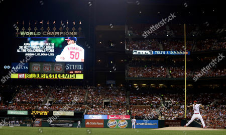 Adam Wainwright St. Louis Cardinals starting pitcher Adam Wainwright, right, throws during the fourth inning of a baseball game against the Atlanta Braves after recording his 1086th career strikeout, in St. Louis. The strikeout of Braves' Chris Johnson moved Wainwright into third on the all-time team strikeout list behind Bob Gibson and Dizzy Dean