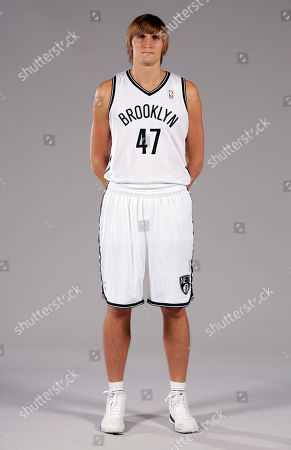 Andrei Kirilenko Andrei Kirilenko poses for photos during the Brooklyn Nets media day, at the Barclay's Center, in New York