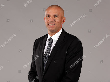 Stock Photo of Jason Kidd Head Coach Jason Kidd poses for photos during the Brooklyn Nets media day, at the Barclay's Center, in New York