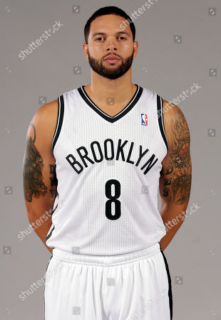 Deron Williams Deron Williams poses for photos during the Brooklyn Nets media day, at the Barclay's Center, in New York