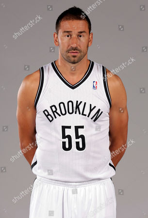 Stock Photo of Marko Jaric Marko Jaric poses for photos during the Brooklyn Nets media day, at the Barclay's Center, in New York