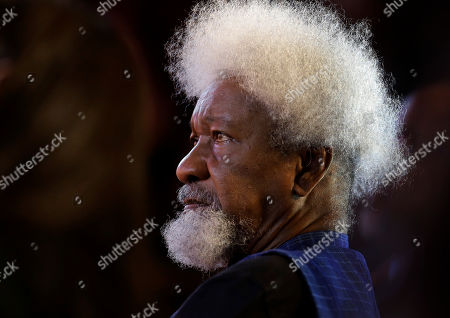 Wole Soyinka Playwright and poet Wole Soyinka, of Nigeria, recipient of the 1986 Nobel Prize in Literature, listens during award ceremonies for the W.E.B. Du Bois Medal on the campus of Harvard University, in Cambridge, Mass., . Harvard has awarded the medal since 2000 to people whose work has contributed to African and African-American culture. Six people were recipients of the award for 2013