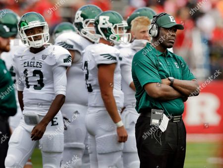 Ron English Eastern Michigan head coach Ron English watches play during the first half of an NCAA college football game against Rutgers in Piscataway, N.J., .Rutgers won 28-10