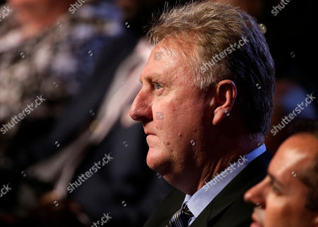 Larry Bird Basketball Hall of Famer Larry Bird in the audience during the enshrinement ceremony for the 2013 class of the Naismith Memorial Basketball Hall of Fame at Symphony Hall in Springfield, Mass