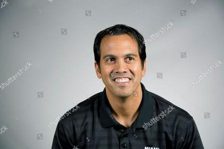 Erik Spoelstra Miami Heat coach Erik Spoelstra poses for photos during the team's media day, in Miami