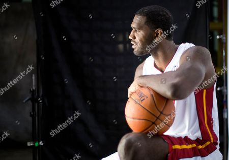Greg Oden Miami Heat player Greg Oden poses for photos during the team's media day, in Miami