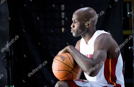 Stock Picture of Joel Anthony Miami Heat player Joel Anthony poses for photos during the team's media day, in Miami
