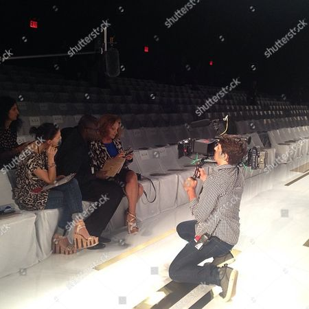 Diane von Furstenburg Diane von Furstenburg prepares for rehearsal during New York Fashion Week