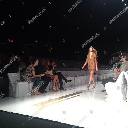 Diane von Furstenburg Diane von Furstenburg watches rehearsals during New York Fashion Week