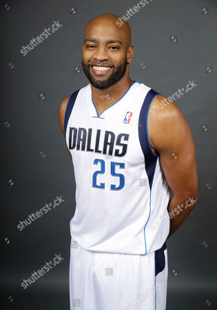 Vince Carter Dallas Mavericks shooting guard Vince Carter (25) poses for a photo during media day, in Dallas