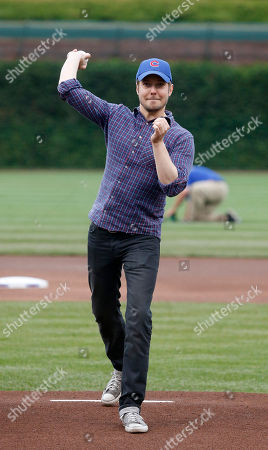 David Tirio Musician Dave Tirio throws out a ceremonial first pitch before a baseball game between the Chicago Cubs and the Washington Nationals, in Chicago