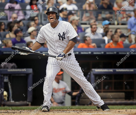 Vernon Wells New York Yankees' Vernon Wells reacts after fouling off a pitch during the first inning of the baseball game against the Baltimore Orioles at Yankee Stadium in New York