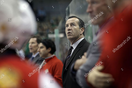Kevin Dineen Florida Panthers head coach Kevin Dineen watches play from the bench in the first period of an NHL hockey game against the Dallas Stars, in Dallas. Dineen has been fired as coach of the Panthers. The team made the announcement, one day after their losing streak reached seven with a 4-1 loss at Boston. Also fired were assistants Gord Murphy and Craig Ramsay. Peter Horachek is the Panthers' interim head coach