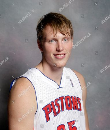 Stock Picture of Kyle Singler Detroit Pistons forward Kyle Singler is photographed during the Detroit Pistons media day at their practice facility in Auburn Hills, Mich