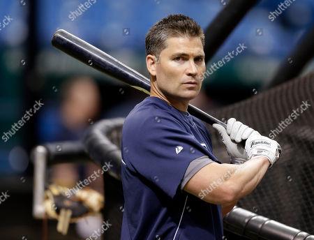 Luke Scott Tampa Bay Rays' Luke Scott prepares to take batting practice before a baseball game against the Boston Red Sox, in St. Petersburg, Fla