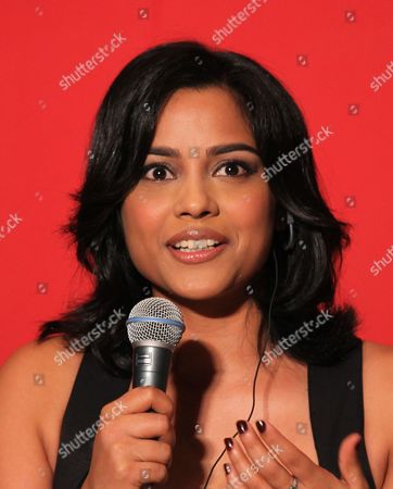 """Shahana Goswami Indian actress Shahana Goswami, of Busan International Film Festival opening movie """"Vara: A Blessing,"""" speaks during a press conference at Busan Cinema Center in Busan, south of Seoul, South Korea"""