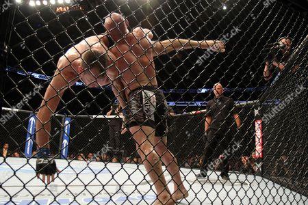 Manny Gamburyan, Cole Miller Manny Gamburyan slams Cole Miller during their UFC on Fox Sports 1 mixed martial arts bout in Boston, Saturday, August 17,2013. Gamburyan won via decison