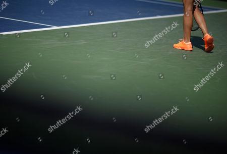 Julia Glushko Julia Glushko of Israel prepares to serve against Nadia Petrova of Russia during the first round of the 2013 U.S. Open tennis tournament, in New York