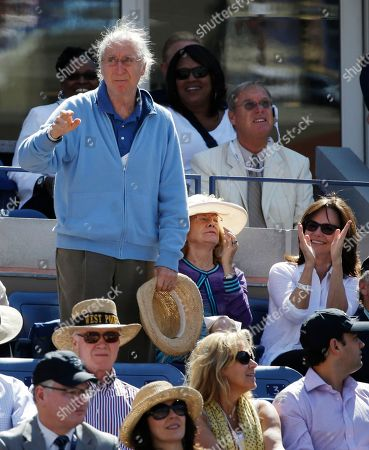 Gene Wilder Actor Gene Wilder waves to the crowd during the semifinals of the 2013 U.S. Open tennis tournament, in New York