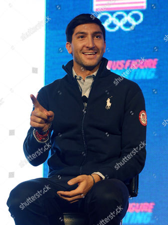 Evan Lysacek Olympic figure skating champion Evan Lysacek makes remarks at a press conference during the USOC 2013 team USA media summit, in Park City, Utah. Lysacek has a torn labrum, and will miss next month's Skate America. Lysacek was initially diagnosed with an abdominal tear after a fall in August. But he says he continued to feel pain, and further tests revealed the tear