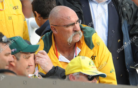 Stock Photo of Merv Hughes In The Crowd At Lords - Cricket - England V Australia 2nd Royal London One-day Series. Lords.