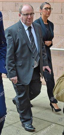 Liquid Nitrogen Trial Andrew Dunn (pictured) Director And Owner Of Oscar's Bar Lancaster Arrives At Preston Crown Court Charged With Breaching The Health And Safety At Work Act After Customer Gaby Scanlon Drank Liquid Nitrogen And Subsequently Had To Have Her Stomach Removed.  17/9/15.