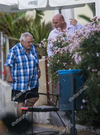 Freddie Starr At A Restaurant In Marbella Where He Is Now Living In Tax Exile. 23.9.15 Reporter Christian Gysin.