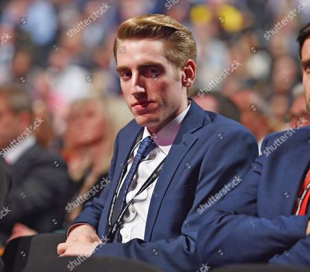 Stock Image of Labour Party Annual Conference The Brighton Centre Brighton East Sussex.- Sebastian Corbyn Son Of Labour Leader Jeremy.