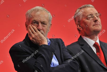 Shadow Foreign Sec Hillary Benn (r) With Labour Leader Jeremy Corbyn (l) Labour Party Annual Conference The Brighton Centre Brighton East Sussex.