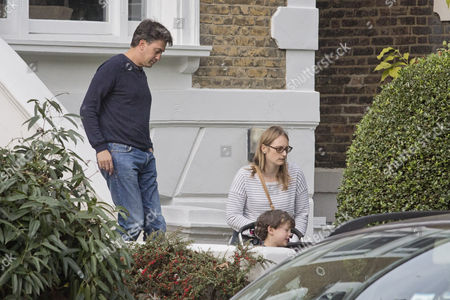 Ed Milliband Outside His Home In Nw5 During The Labour Party Conference.