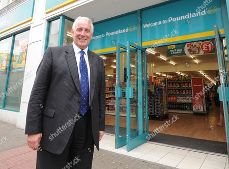 Jim Mccarthy Ceo Of Poundland In The Fulham Store London After He Is Interviewed For Daily Mail's City And Finance.
