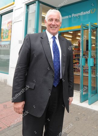 Stock Image of Jim Mccarthy Ceo Of Poundland At The Fulham Store London After He Is Interviewed For Daily Mail's City And Finance.