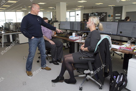 Neil Woodford Of Woodford Investment Management Talks With His Employees.