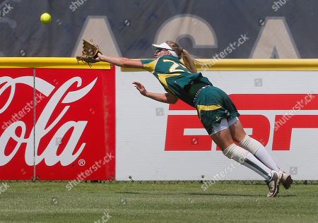 Chelsea Forkin Australia's Chelsea Forkin reaches for but can't get to a double hit by Canada's Jennifer Gilbert in the first inning of a World Cup of Softball tournament game in Oklahoma City, . Canada won 2-0