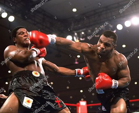 Stock Picture of Trevor Berbick, Mike Tyson Mike Tyson, right, delivers a blow to Trevor Berbick during a boxing bout in Las Vegas. Organizers say seven boxers and 12 others will be the first inductees at the new Nevada Boxing Hall of Fame in Las Vegas. Inductees to be enshrined, in the inaugural class include boxers Tyson, Larry Holmes, Sugar Ray Leonard, Julio Cesar Chavez, Mike McCallum, Diego Corrales and Oscar De La Hoya