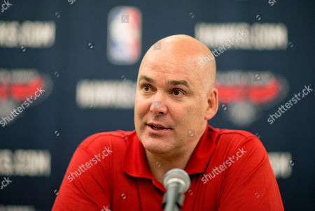 "Danny Ferry Atlanta Hawks general manager Danny Ferry speaks at a press conference in Atlanta. Ferry has been disciplined by CEO Steve Koonin for making racially charged comments about Luol Deng when the team pursued the free agent this year. Ferry apologized, for ""repeating comments that were gathered from numerous sources"" about Deng"