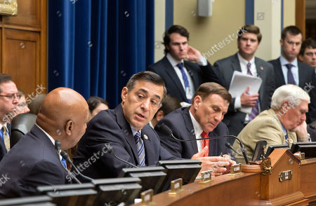 Darrell Issa, Elijah Cummings, John Mica, John Duncan The House Oversight Committee meets in a politically contentious session to vote on whether to compel Internal Revenue Service official Lois Lerner to testify about the extra scrutiny the IRS gave to tea party and other conservative groups that applied for tax-exempt status, on Capitol Hill in Washington, in Washington, . From left to right are Rep. Elijah Cummings, D-Md., left, the ranking member, Chairman Darrell Issa, R-Calif., Rep. John L. Mica, R-Fla., and Rep. John J. Duncan, R-Tenn. Lerner, the IRS supervisor who headed the tax-exempt division, appeared before the Republican-controlled panel with her attorney May 22 but cited her constitutional right to not answer questions and left after a dramatic standoff. The Oversight Committee contends Lerner forfeited her right to remain silent by making opening remarks at last month's hearing
