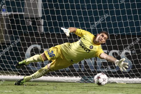Juan Pablo Carrizo Inter Milan goalkeeper Juan Pablo Carrizo attempts to catch a penalty kick during the second half of the Guinness International Champions Cup soccer, in Miami