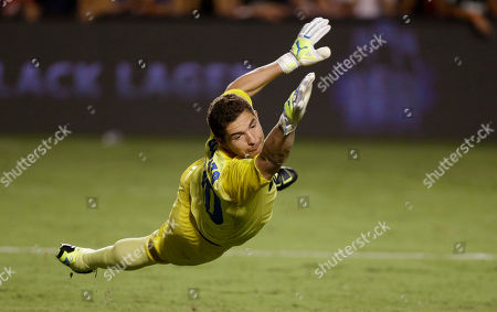 Juan Pablo Carrizo Inter Milan goalkeeper Juan Pablo Carrizo stretches to catch a ball during the second half of the Guinness International Champions Cup soccer match against Juventus, in Miami